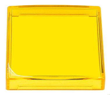 Lens Cap - Small Square, 35x35 mm, Yellow - 26-0602-4
