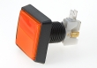 STC Pushbutton Illuminated, Large Square, 51x51 mm, Orange - 26-0610-3