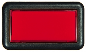 Submini Rectangle Pushbutton Red - 26-1130-2