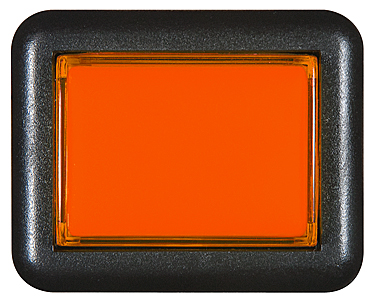 Bouton rectangulaire orange - 26-1150-3