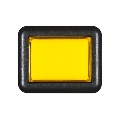 STC Pushbutton with Subminiature Microswitch, Medium Rectangular, Yellow - 26-1150-4