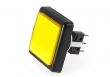 SCT Pushbutton with Subminiature Microswitch, Large Square, 37x37 mm, Yellow - 26-1160-4