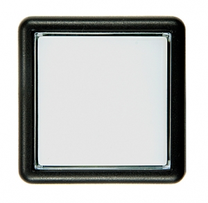 SCT Pushbutton with Subminiature Microswitch, Large Square, 37x37 mm, White - 26-1160-9B